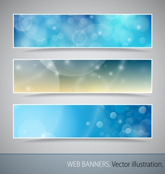 Abstract Banner With Bokeh vector