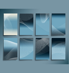 abstract line waves with gradient background vector image