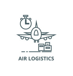 air logisticsfast delivery line icon air vector image
