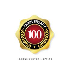 Anniversary 100 template design vector