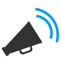 Announce Horn Flat Icon vector