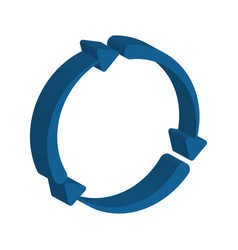 Arrows in circle shape vector