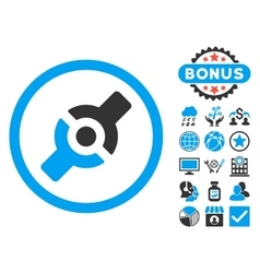Artificial Joint Flat Icon with Bonus vector