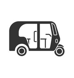 Auto rickshaw glyph icon vector