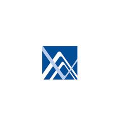 av va a v initial based letter icon geometric logo vector image