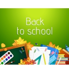 Back to school background with blackboard and vector