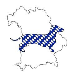 Bavarian badger vector