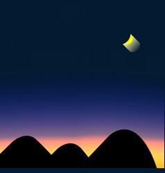 Beautiful shade of sky at night vector