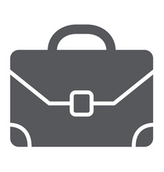 briefcase glyph icon baggage and bag portfolio vector image