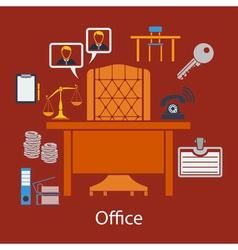 Business flat design vector image