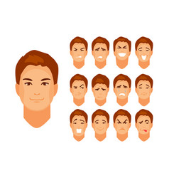 Caricature emotions man vector