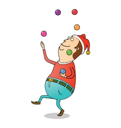 Christmas clown vector image