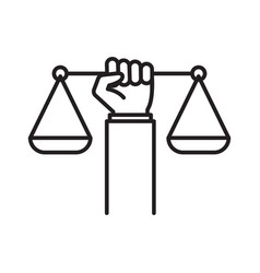 Civil rights icon law and justice concept vector