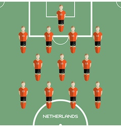 Computer game Netherlands Football club player vector
