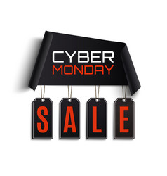 cyber monday sale abstract design vector image