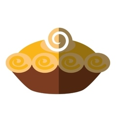 delicious pumpkin pie icon vector image