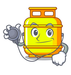 doctor flammable gas tank on cartoon the vector image