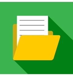 Document in letter icon flat style vector