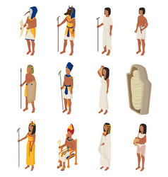 egyptian ancient egypt people character vector image