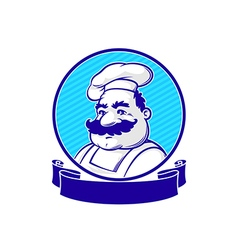 Emblem with chef vector