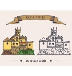 Exterior view on trakoscan old castle vector