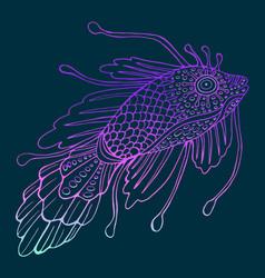 fantasy mystical fish vector image