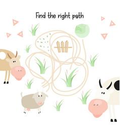 farm labyrinth vector image