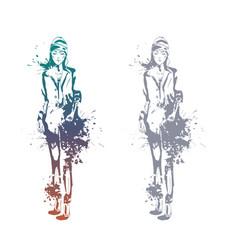 fashion look girls vector image