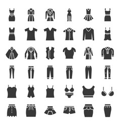 female clothes bags and accessories set 1 solid vector image