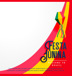 Festa junina holiday background vector