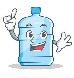 Finger gallon character cartoon style vector