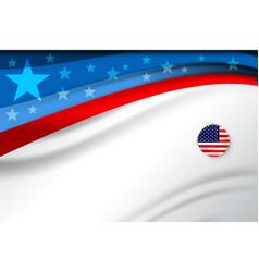 Flag of american vector