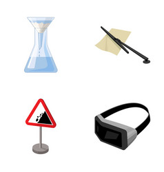 Flask parking fee and other web icon in cartoon vector