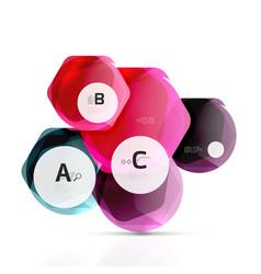 glass color hexagons glossy plastic hexagon vector image vector image