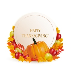 Happy thanksgiving background with colorful autumn vector