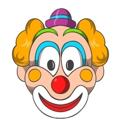 Head of clown icon cartoon style vector image