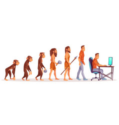 Human evolution from ape to man computer user vector