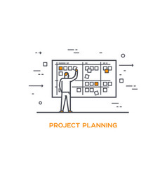 Icon business 01 project planning vector