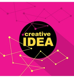 Idea concept creative background vector