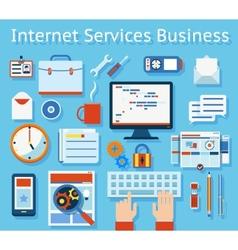 Internet Service Business Concept Graphic Design vector