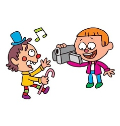 Kids video shooting vector