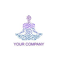 Leaf yoga logo on gradient vector