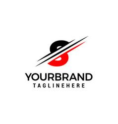 Letter s logo graphic elegant and unique sliced vector