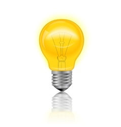 Light Bulb Realistic vector image