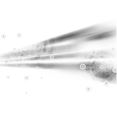Light grey abstract technology background vector