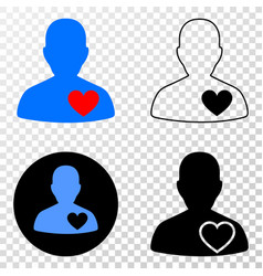 lover heart eps icon with contour version vector image