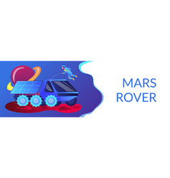 mars rover concept banner header vector image