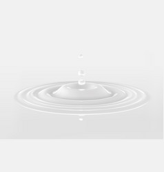 milk or white liquid drop ripple surface cream vector image