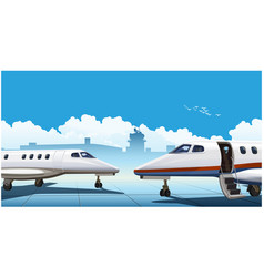 modern business jets vector image