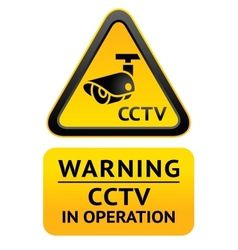 Notice Video Surveillance symbol vector image